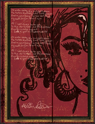 "Записная книжка ""Paperblanks"" Amy Winehouse, Tears Dry Mini Wrap лин."