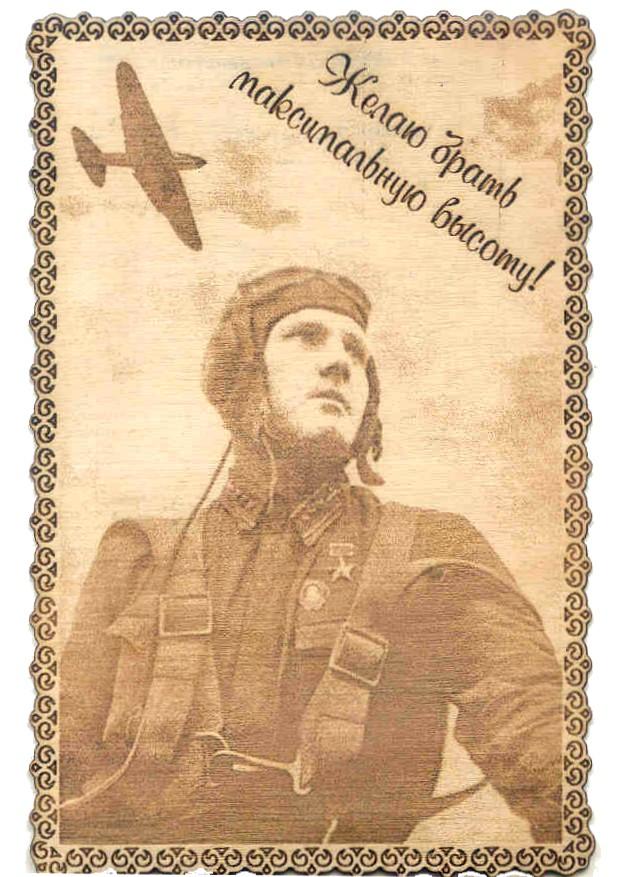 Военный летчик открытка